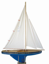 Voilier-64-cm-3-voiles-Coque-Bleue