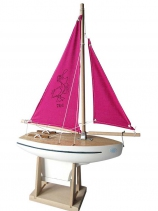 Voilier-bateau-jouet-cadeau-rose