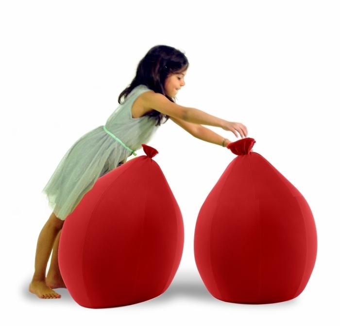pouf-forme-ballon-younow-rouge